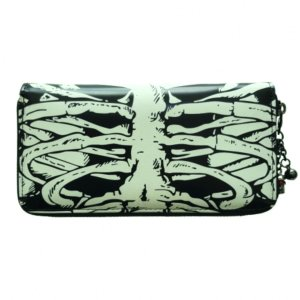 Banned Glow In The Dark Skeleton Ribcage Purse