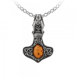 Alchemy Amber Dragon Thorhammer Necklace