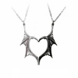 Alchemy Darkling Heart Pewter Pendants
