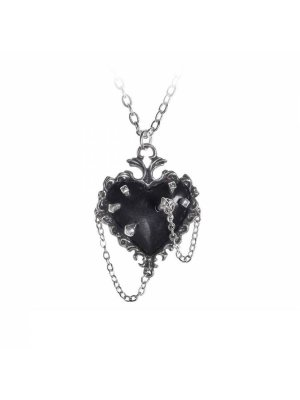 Alchemy Witches Heart Pewter Pendant