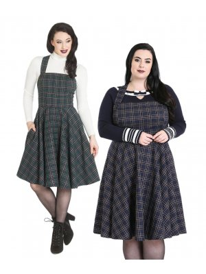 Hell Bunny Peebles Pinafore Dress