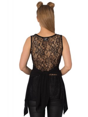 Banned Esotericat Lace backed Top