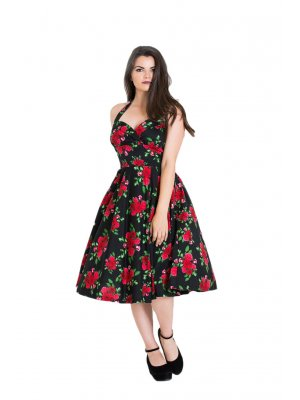 Hell Bunny Black & Red Cannes 50s Dress