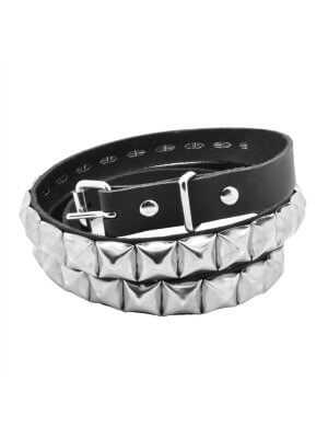 Bullet 69 1 Row Pyramid Studded Belt (19mm)