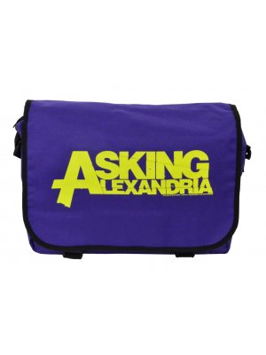 Asking Alexandria Purple Logo Bag