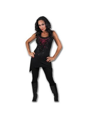 Spiral Blood Rose Gothbottom Viscose Camisole Vest