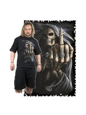 Spiral Bone Finger T-Shirt