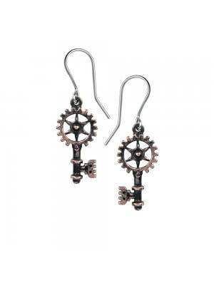 Alchemy Pewter Clavitraction Earrings