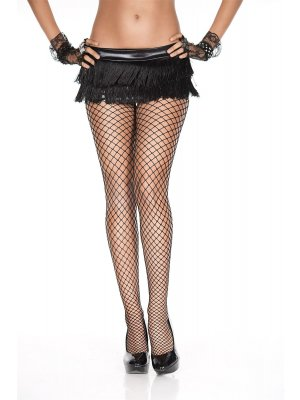 Music Legs Diamond Net Spandex Pantyhose