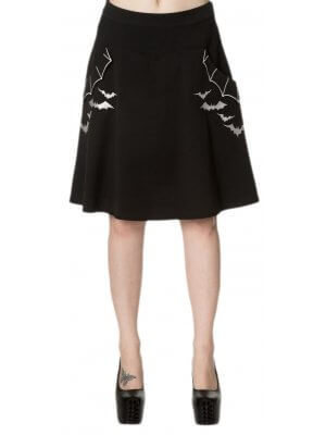 Banned Batting Eyelids Skater Skirt