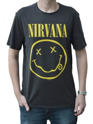 Amplified Nirvana Smiley Face Crew Neck T-Shirt