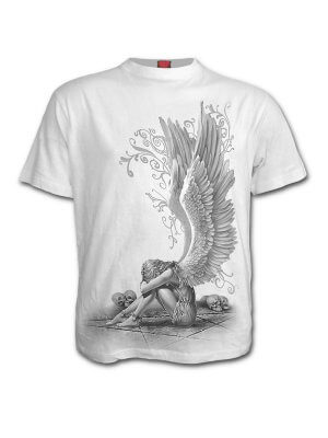 Spiral White Enslaved Angel T-Shirt