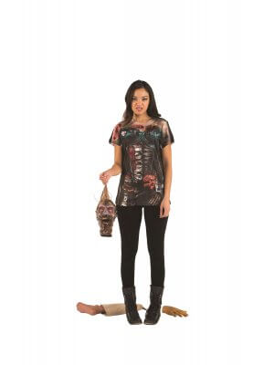 Faux Real Corset Zombie Women's T-Shirt