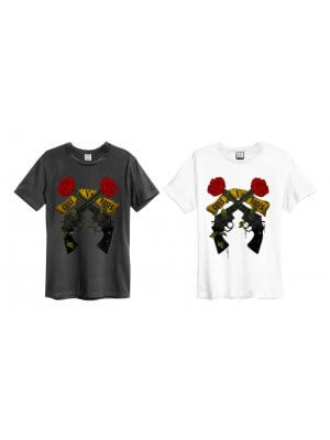 Amplified Guns N' Roses Shooting Roses Crew Neck T-Shirt