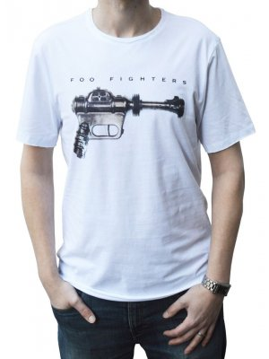 Amplified Foo Fighters Ray Gun Crew Neck T-Shirt