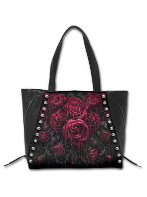 Spiral Blood Rose Tote Bag