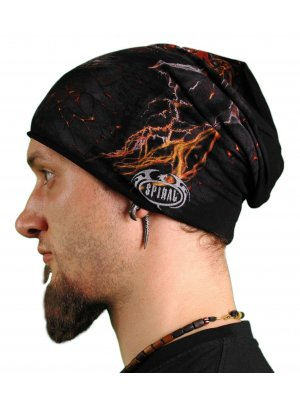 Spiral Dragon Furnace Light Cotton Beanie Hat