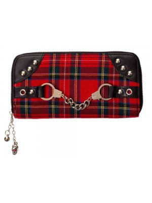Banned Red Tartan Handcuff Wallet