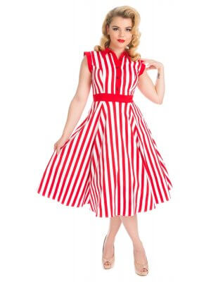 H&R Striped Tea Dress