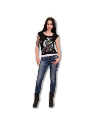 Spiral Rock Angel 2 In 1 Ripped Top