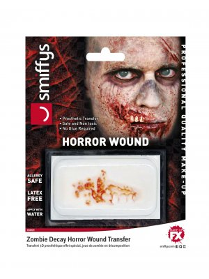 Smiffy's Zombie Decay Horror Wound Transfer