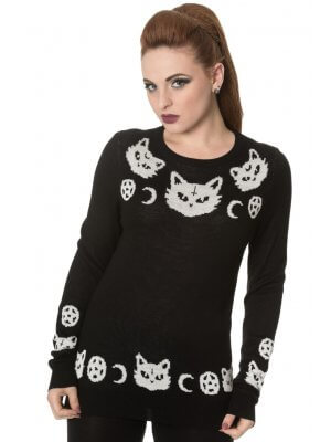 Banned Cat Knit Jumper