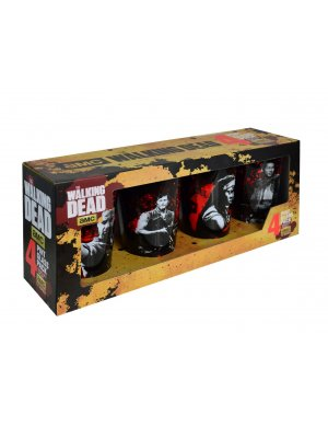 The Walking Dead Blood Splattered 4 Pack Glass Set