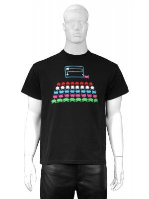 Novelty Space Invaders School T-shirt