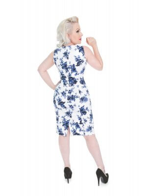 H&R Blue Rosaceae Wiggle Dress