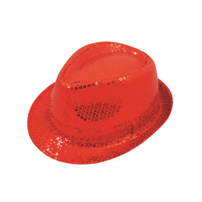 df011ef975a Red Sequin Fedora Hat - Rock Collection