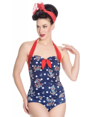 Hell Bunny St Tropez 50's Swimsuit