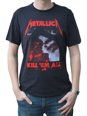 Amplified Metallica Kill 'Em All Crew Neck T-Shirt