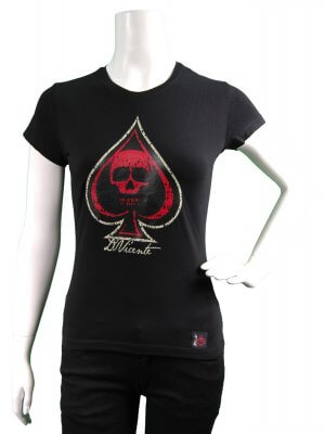 D Vicente Speed With Skull Women's Fitted T-Shirt