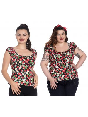 Hell Bunny Strawberry Sundae Top