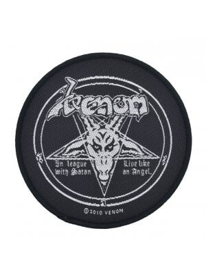 Venom In League With Satan Woven Patch