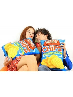 Cheeky Baldrick Realistic Potato Chips Cushion