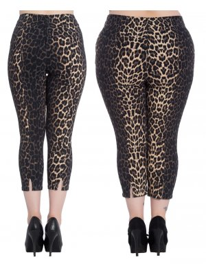 Hell Bunny Panthera Capri Trousers