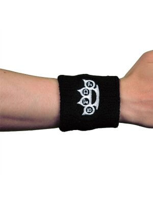 Five Finger Death Punch Knuckles Logo Embroidered Wrist Sweatband
