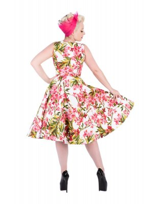 H&R Pink Maureen Floral Swing Dress
