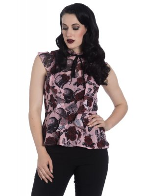 Hell Bunny Sullen Blouse