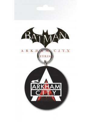 Batman Arkham City Logo Key Ring