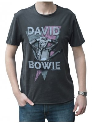 Amplified David Bowie Look Into My Eyes Crew Neck T-Shirt