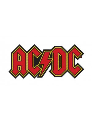 AC/DC Logo Cut-Out Woven Patch