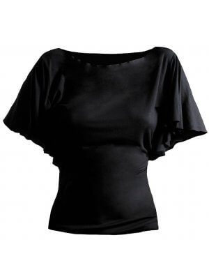 Spiral Latin Boatneck Viscose Top
