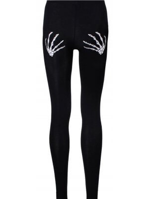 Banned Slashed Skull Leggings