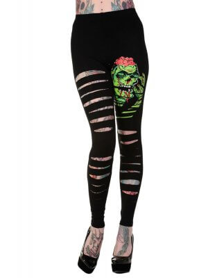 Banned Slashed Zombie Leggings