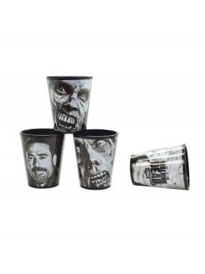 The Walking Dead Season 7 4 Pack Shot Glass Set