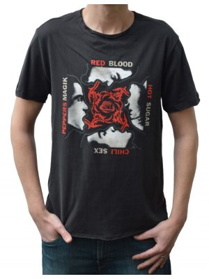 Amplified Red Hot Chili Peppers Blood Sugar Sex Magik Crew Neck T-Shirt