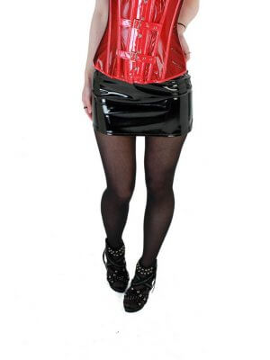 Phaze Black Plain Hipster Mini Skirt