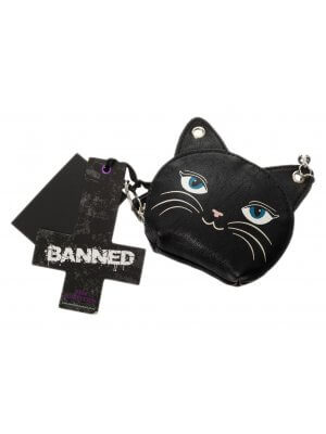 Banned Feminine Feline Coin Purse